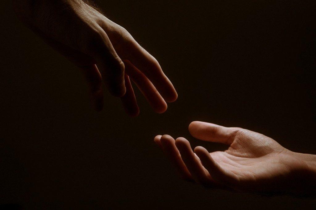 hands, hand, together